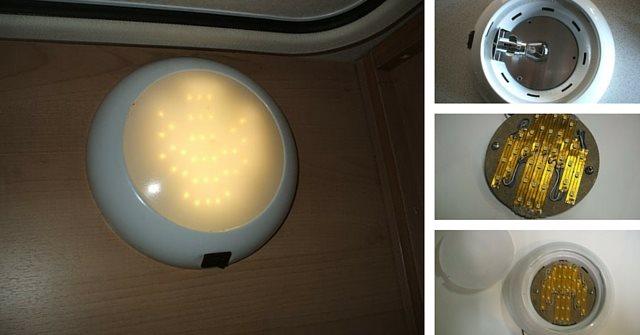 Plafoniera Neon Fai Da Te : Trasformazione fai da te plafoniera camper lampadina doppio