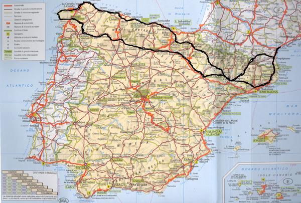 Spagna Nord Cartina.Spagn Atlantica E Cammino Di Santiago