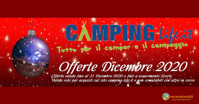 camping life offerte Dicembre 2020