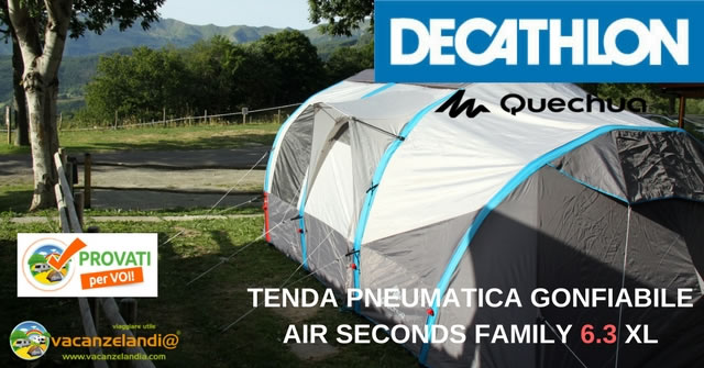tenda pneumatica gonfiabile air seconds family 6.3 xl quechua decathlon 1