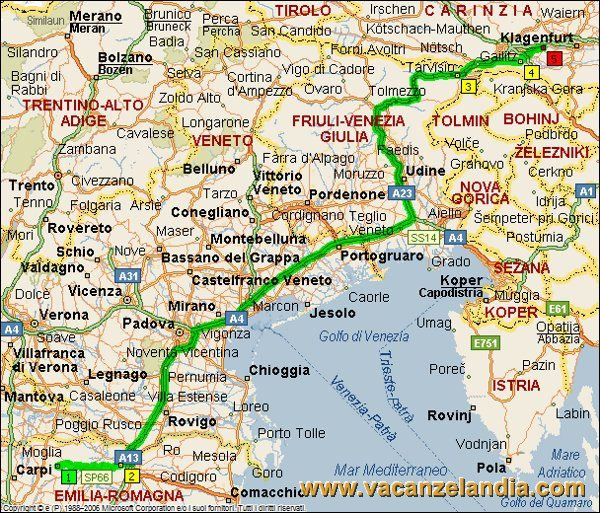 Austria Italia Cartina.Vacanzelandia Itinerari Diari Di Viaggio Austria Lago
