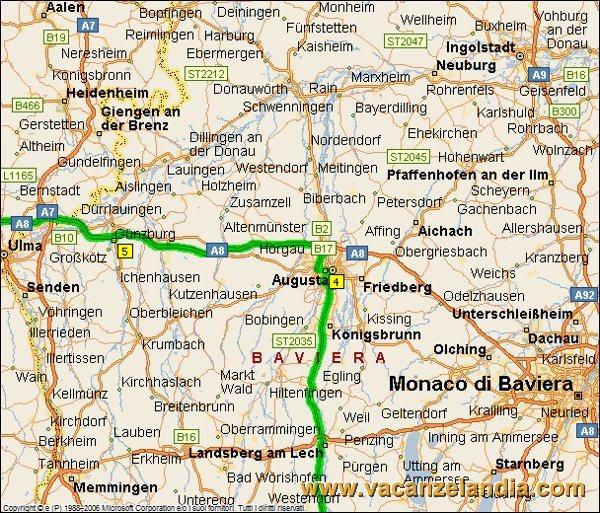 Germania Del Sud Cartina.Vacanzelandia Itinerari Diari Di Viaggio Germania Augsburg E Legoland