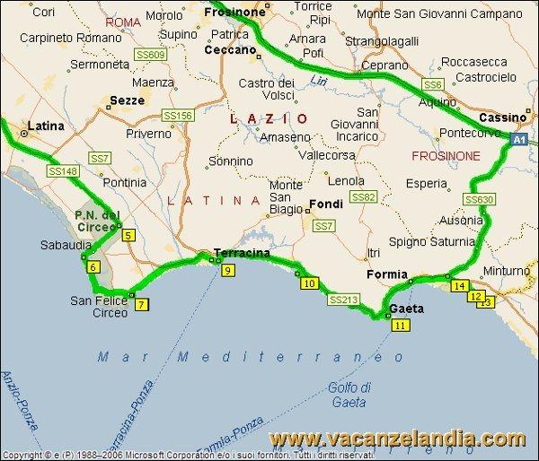 Cartina Mare Lazio.Vacanzelandia Itinerari Diari Di Viaggio Lazio Litorale Pontino