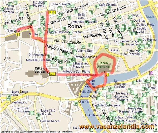 Cartina Roma Vaticano.Vacanzelandia Vacanzelandia