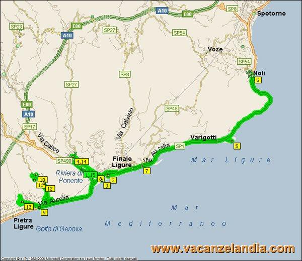 Cartina Geografica Riviera Ligure Di Ponente.Vacanzelandia Itinerari Diari Di Viaggio Liguria Riviera Di