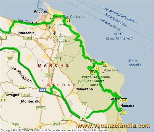 Cartina Marche Conero.Diario Di Viaggio Nel Parco Regionale Del Conero