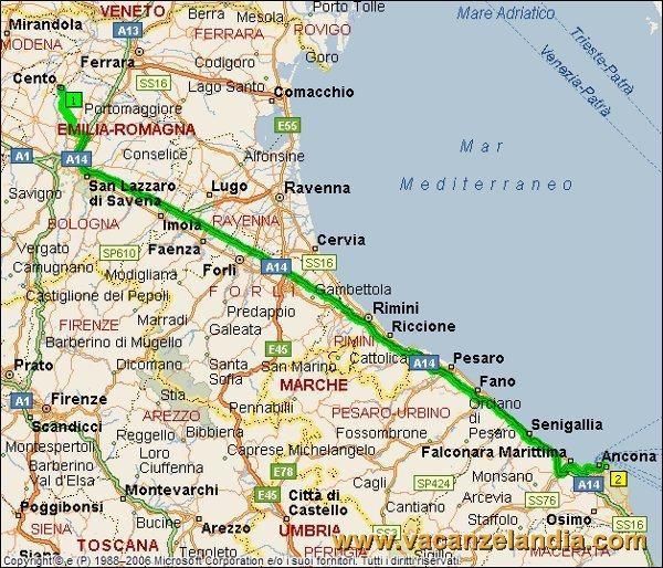 Cartina Marche Conero.Vacanzelandia Itinerari Diari Di Viaggio Marche Conero 1o Tappa