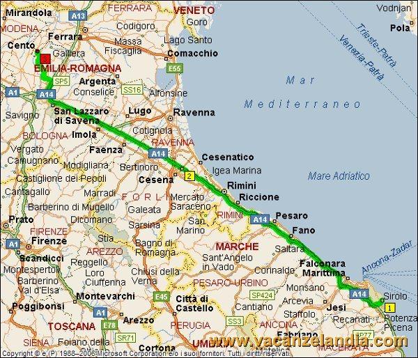 Cartina Marche Conero.Vacanzelandia Itinerari Diari Di Viaggio Marche Conero 12o Tappa