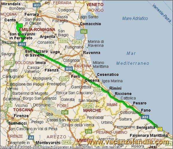 Cartina Italia Senigallia.Vacanzelandia Vacanzelandia