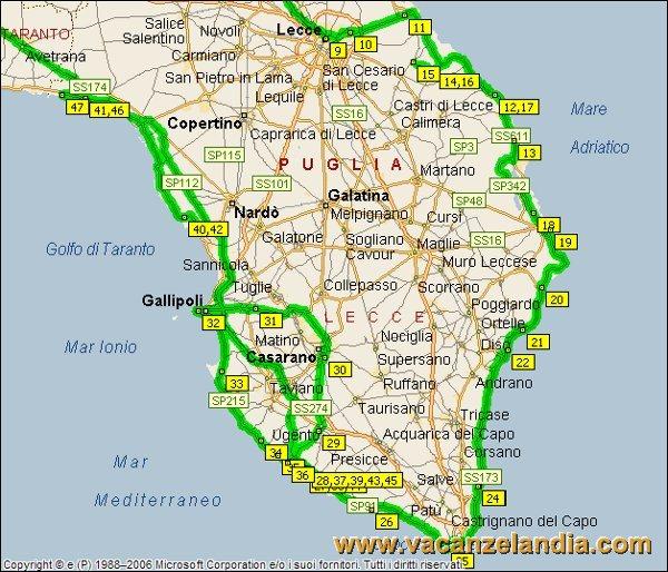 Cartina Spiagge Puglia Salento.Vacanzelandia Itinerari Diari Di Viaggio Puglia Salento