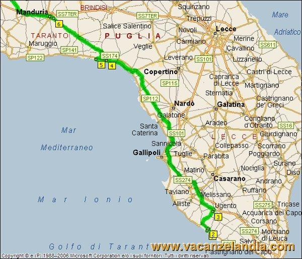 Cartina Spiagge Puglia Salento.Vacanzelandia Itinerari Diari Di Viaggio Puglia Salento 16o Tappa