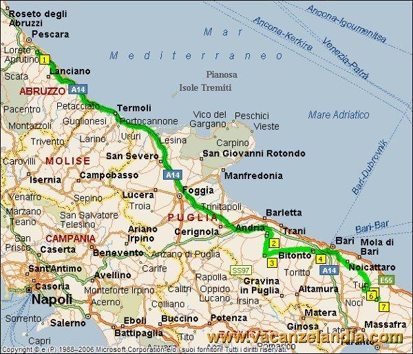 Cartina Autostradale Della Puglia.Vacanzelandia Itinerari Diari Di Viaggio Puglia Salento 2o Tappa