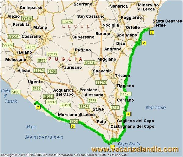 Mappa Puglia Ugento.Vacanzelandia Itinerari Diari Di Viaggio Puglia Salento 6o Tappa