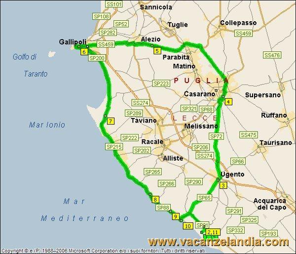 Gallipoli Cartina Italia.Vacanzelandia Itinerari Diari Di Viaggio Puglia Salento 9o Tappa