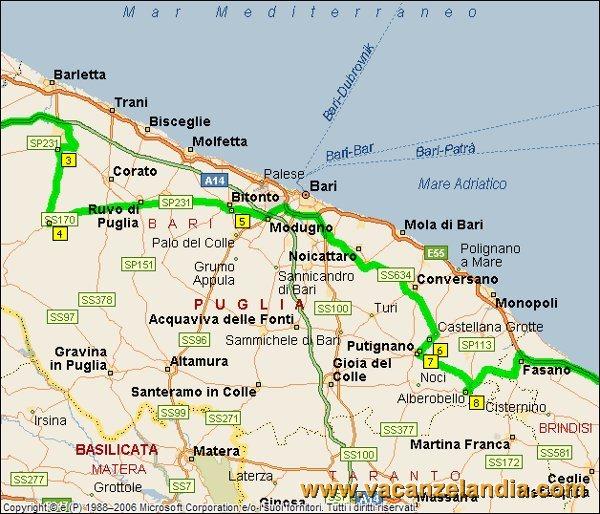 Cartina Puglia Noci.Vacanzelandia Itinerari Diari Di Viaggio Puglia Salento