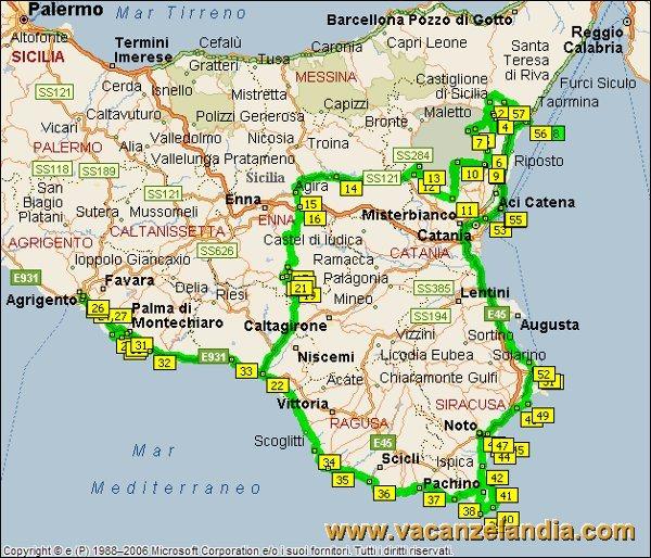 Cartina Spiagge Sicilia Orientale.Vacanzelandia Itinerari Diari Di Viaggio Sicilia Parte Sud Orientale