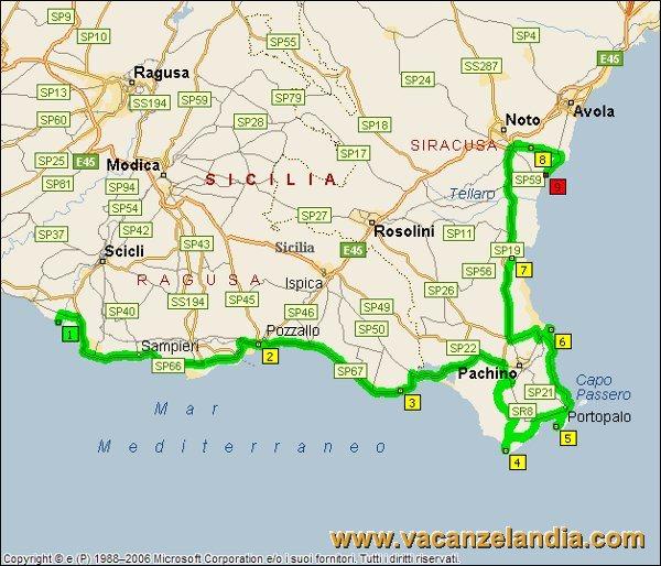 Cartina Spiagge Sicilia Orientale.Vacanzelandia Itinerari Diari Di Viaggio Sicilia Parte Sud Orientale 13o Tappa