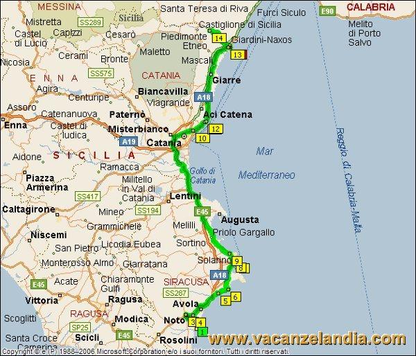 Cartina Spiagge Sicilia Orientale.Vacanzelandia Itinerari Diari Di Viaggio Sicilia Parte Sud Orientale 15o Tappa