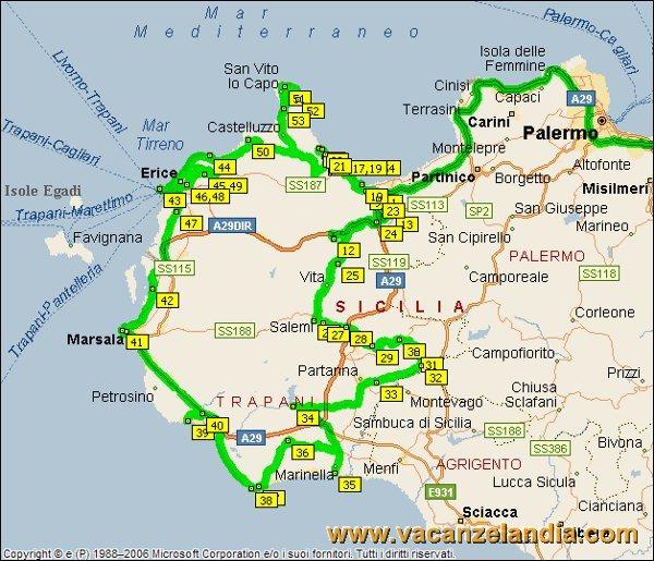 Cartina Sicilia Segesta.Vacanzelandia Itinerari Diari Di Viaggio Sicilia Il Trapanese