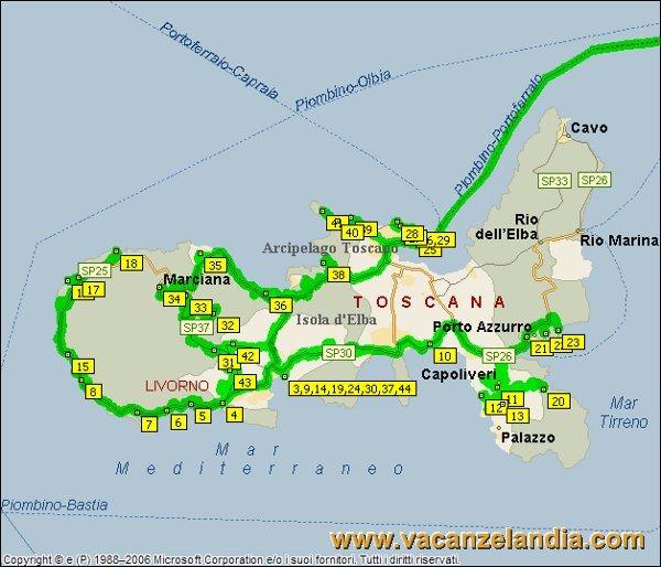 Isola Delba Cartina Italia.Diario Di Viaggio All Isola D Elba In Moto E Tenda